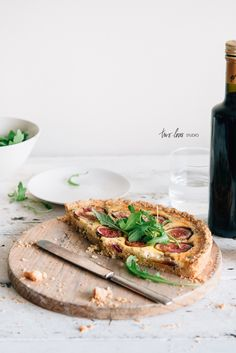 Fig & Goat Cheese Almond Meal Tart — Two Loves Studio | Food Photography, food styling