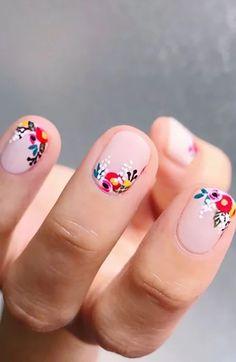 Cute Summer Nail Designs, Cute Summer Nails, Valentine's Day Nail Designs, Classy Nail Designs, Cute Nails, Pretty Nails, Nails Design, Spring Nails, Black Nail Designs