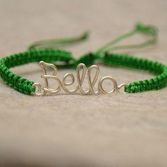 Personalized bracelet, your name, your text, colorful, macrame friendship bracelet