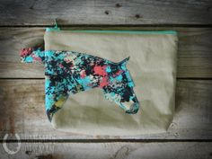 Horse Head Zippered Bag/Pouch/Cosmetic Bag by HomemadeHorseman, $12.00