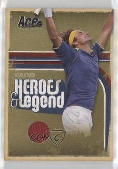 2006 Ace Authentics Heroes & Legends Materials Memorabilia 21 Roger Federer Card