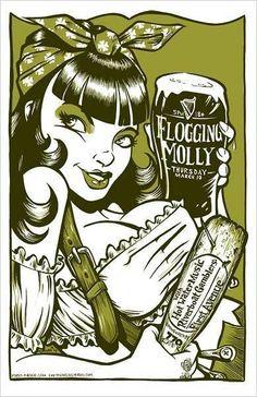 ☆ Rockabilly Flogging Molly Gig Poster