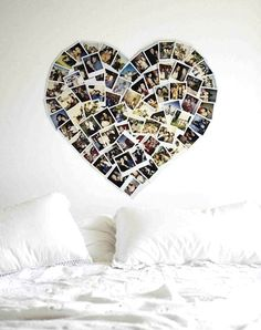 Polaroid heart wall picture art diy great for home office design