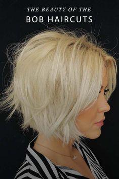 45 Edgy Bob haircuts for your next cut - Kapsrls - . - 45 Edgy Bob haircuts for your next cut – Kapsrls – - Bob Style Haircuts, Wavy Bob Hairstyles, Latest Hairstyles, Edgy Haircuts, Haircut Style, Short Choppy Haircuts, Haircuts For Thin Hair, Easy Hairstyles, Trendy Haircuts For Women