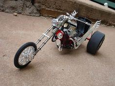 trike - Scale Auto Magazine - For building plastic & resin scale model cars, trucks, motorcycles, & dioramas Harley Davidson Trike, Custom Trikes, Trike Motorcycle, Car Magazine, Vintage Bikes, Plastic Models, Cool Bikes, Scale Models, Cars And Motorcycles