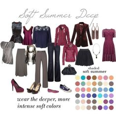 """e xpressing your truth polyvore Rachel McAdams is typed as Soft Summer Deep \\ Katie Holmes is typed as """"velvety"""" Soft..."""