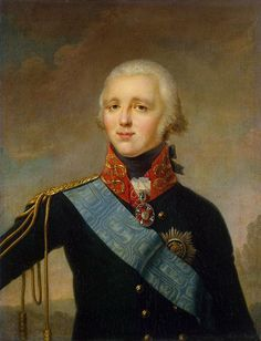 Painting by Unknown artist of Tsar Alexander I Pavlovich Romanov The Blessed (23 Dec 1777-1 Dec 1825) Russia. 1st Child of Tsar Paul I (1754-1801) Russia & 2nd wife Princess Sophie Dorothea-Maria Feodorovna (1759-1828) Württemberg, Germany. Husband of Princess Louise-Elizabeth Alexeyevna (24 Jan 1779-16 May 1826) Baden, Germany. He was Emperor of Russia, King of Poland, Grand Prince of Finland, Grand Prince of Lithuania.