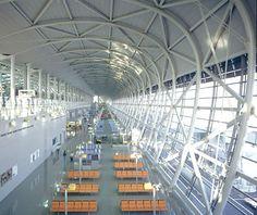 From Travel & Leisure - World's Most Beautiful Airports: Kansai International Airport, Osaka, Japan The wave la vague inspiration structure