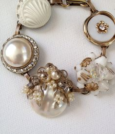 Vintage earring bracelet upcycled bracelet by ChicMaddiesBoutique, $39.00