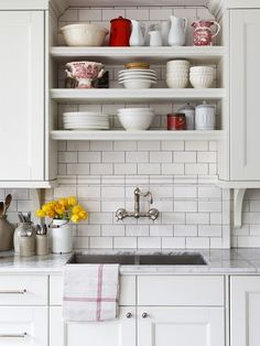Open Shelving | Photo Gallery: Kitchen Organizing Ideas | House & Home | photo Donna Griffith