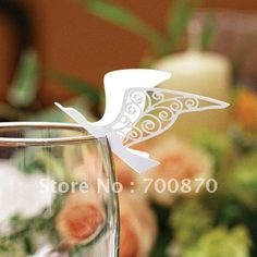 EC1108-19 12pcs/pack Laser Cutting Seagull Place Card(color and pattern can be customized) $70.00