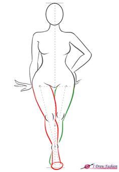 Curvy Body Silhouette Size fashion figure step 8