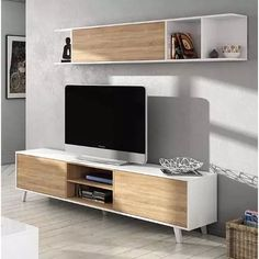 Modern tv wall unit for bedroom modern wall modern wall unit designs modular mesa para rack . Tv Cabinet Design, Tv Wall Design, Tv Unit Design, House Design, Tv Furniture, Furniture Design, Tv Wall Decor, Room Decor, Tv Wanddekor
