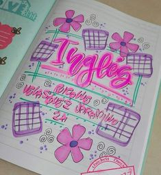 De inglés Page Borders Design, Border Design, Beautiful Handwriting, School Notebooks, Book Letters, Art Folder, Decorate Notebook, School Notes, My Notebook