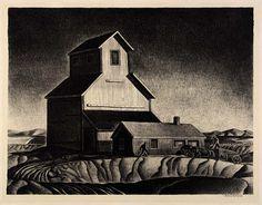 Grain Elevator, Dale Nichols (mid-1930s). Smithsonian American Art Museum.