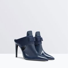 Image 2 of HIGH-HEELED MULES WITH BOW from Zara
