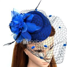Feather Net Fascinators Flowers Hats Headwear Birdcage Veils Wreaths with Floral 1pc Wedding Special Occasion Headpiece - USD $6.99 ! HOT Product! A hot product at an incredible low price is now on sale! Come check it out along with other items like this. Get great discounts, earn Rewards and much more each time you shop with us!