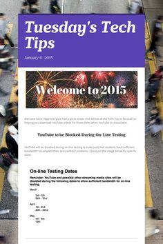 Tuesday's Tech Tips 1/6/15 #EdTech