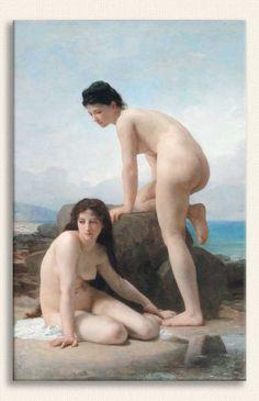 William Adolphe Bouguereau, Deniz Kenarında iki Kadın, Tarih: 1884