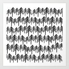 Oh, Pine trees Art Print by BA Jennings - $14.00