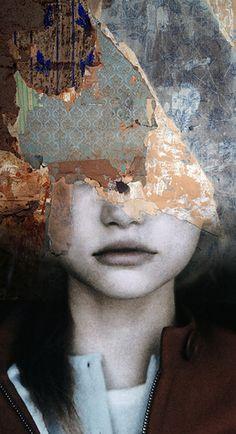 L'Artiste Espagnol Antonio Mora est passé maître dans la création de Portraits oniriques où il introduit des Paysages dans des visages humains.