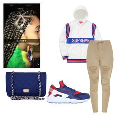 ~kinda cute~ by qveenmm on Polyvore featuring polyvore, fashion, style, Chanel, NIKE and clothing