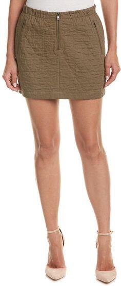 BCBGMAXAZRIA Dotty Quilted Skirt