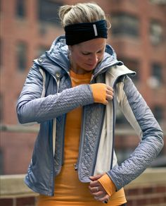 Run: Bundle Up Jacket.  We engineered this warm run jacket with soft fleece, premium goose down and water-resistant panelling to help us fend off the winter weather. A removable hood gives us the option to switch up our coverage for those sunnier days.  Need one!