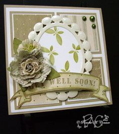 Get Well Soon! by YorkieMoma - Cards and Paper Crafts at Splitcoaststampers Chevron Stencil, Funky Fonts, Get Well Wishes, Pretty Pink Posh, Wink Of Stella, Get Well Soon, Silhouette Cameo Projects, Get Well Cards, Sympathy Cards