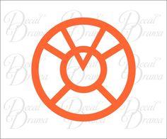 Orange Lantern Corps logo Vinyl Decal, DC Comics, Green Lantern #DecalDrama