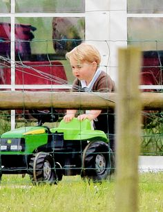 The Duchess of Cambridge brought Prince George to Snettisham Park in England on June 19, 2015. Image Source: AKM-GSI