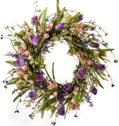 Spring Tulip and Berry Wreath