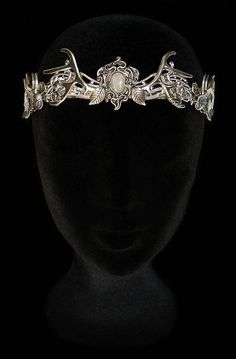 Antlers Crown White Opal Deer Headdress Mythical