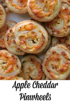 Apple Cheddar Pinwheels are a perfect make ahead appetizer that is great for fall! #appleweek