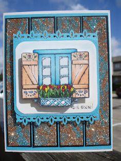 Flourishes Window of the World stamp
