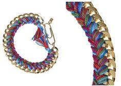 DIY  Jewelry : Braided Chain Bracelet #Beading #Jewelry #Tutorials  https://flashmode.co/fashion/accessory/diy-jewelry-braided-chain-bracelet-beading-jewelry-tutorials/  #Accessory