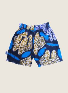 Kwadusa shorts made in african wax print.