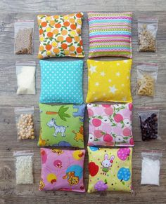 Items similar to Sensory Bean Bags A Montessori Inspired Sensory bags Sensory toys Baby toy Sensory play Montessori bags Baby gift Travel toy Busy bags on Etsy Baby Sensory Play, Baby Play, Diy Sensory Toys For Babies, Baby Sensory Bags, Diy Montessori Toys, Montessori Bedroom, Montessori Toddler, Preschool Toys, Diy Bebe