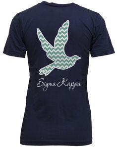 Sigma Kappa Chevron Dove V-Neck