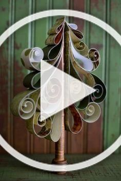 quilling Christmas tree paper craft ideas that you will need to learn - handmade craft Christmas Tree Paper Craft, Quilling Christmas, Diy Christmas Ornaments, Diy Christmas Gifts, Christmas Ideas, Christmas Decorations, Home Crafts, Easy Crafts, Diy Christmas Videos