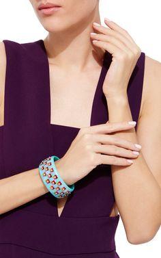 Pink Sapphire Bakelite Bangle by MARK DAVIS for Preorder on Moda Operandi