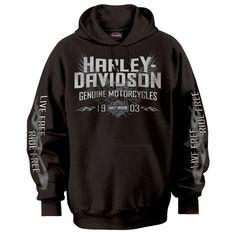 "harley-davidson men's gray ""willie g"" hooded skull sweatshirt from"