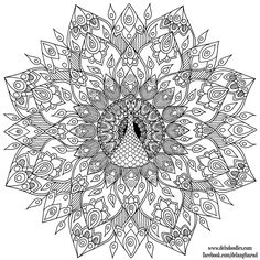 Hand-Drawn Peacock Mandala Colouring Page by WelshPixie on DeviantArt