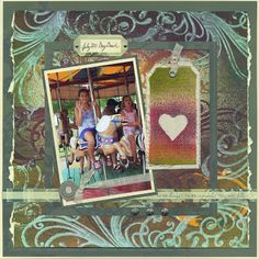 Club Scrap Creates - Kay Williamson uses Club Scrap Stencils for creating scrapbook page backgrounds