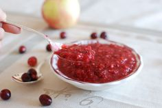 Fresh Cranberry Relish.  I can eat this with a spoon.