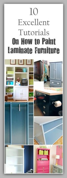 Tutorials on How to Paint Laminate Furniture