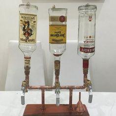 Items similar to The Server - Single Bottle Liquor Dispenser on Etsy Cafe Bar, Browning, E Pipe, Whisky, Liquor Dispenser, Easy Fill, Pipe Decor, Homemade Furniture, Liqueur