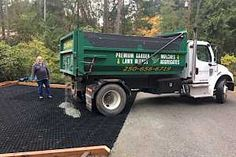 All CORE Gravel™ grids come with a geotextile fabric heat-welded to the back of every single honeycomb cell. This saves time and money during installation Gravel Pathway, Gravel Landscaping, Small Front Yard Landscaping, Brick Walkway, Gravel Driveway, Modern Driveway, Diy Driveway, Driveway Design, Driveway Ideas
