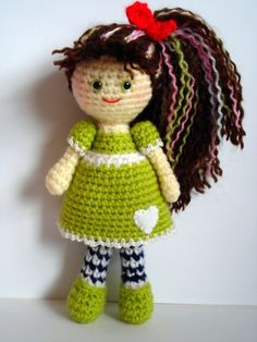 """Crochet Amigurumi girl doll #amigurumi #crochet #crocheted #doll #toys #girl #handmade #plush #plushie #cute #kawaii"" #Amigurumi  #crochet"