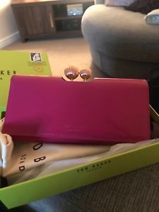 1337ab5d9e2 Ted Baker purse - pink with gold bobble clasp in original bag and box.